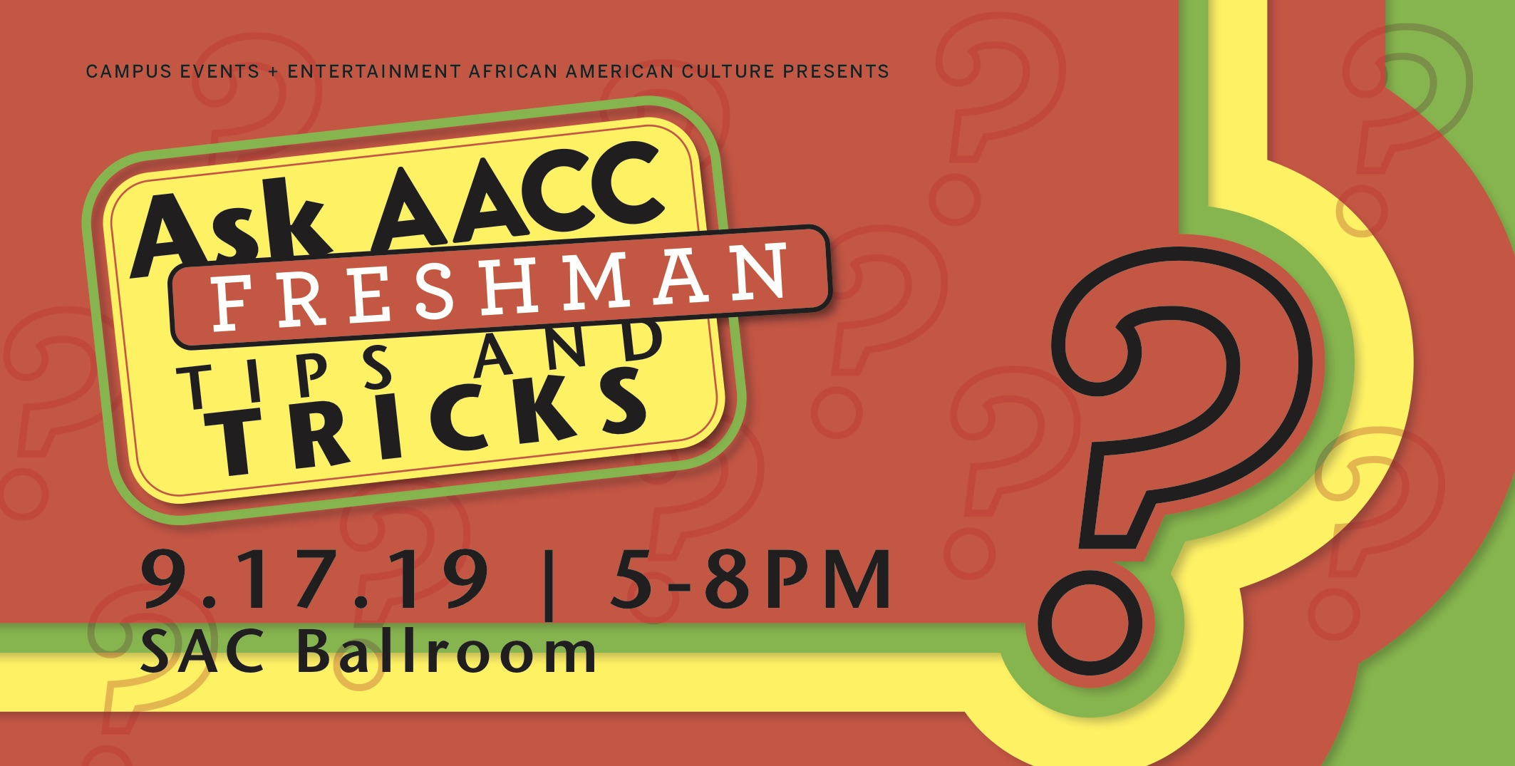 Ask AACC Tuesday September 17, 2019 at 6 pm