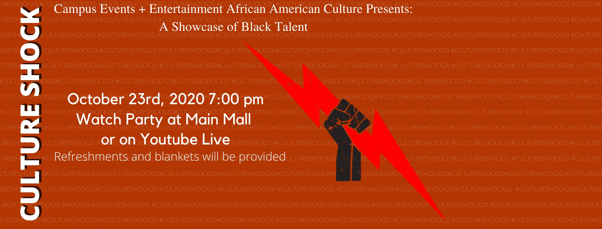 Culture Shock is a showcase of Black Talent on October 23rd