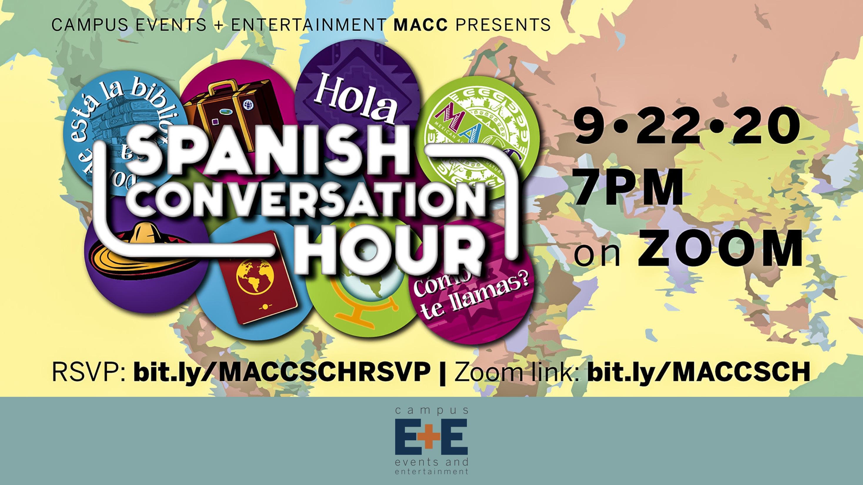 Spanish Conversation hour on September 22 2020 7 pm