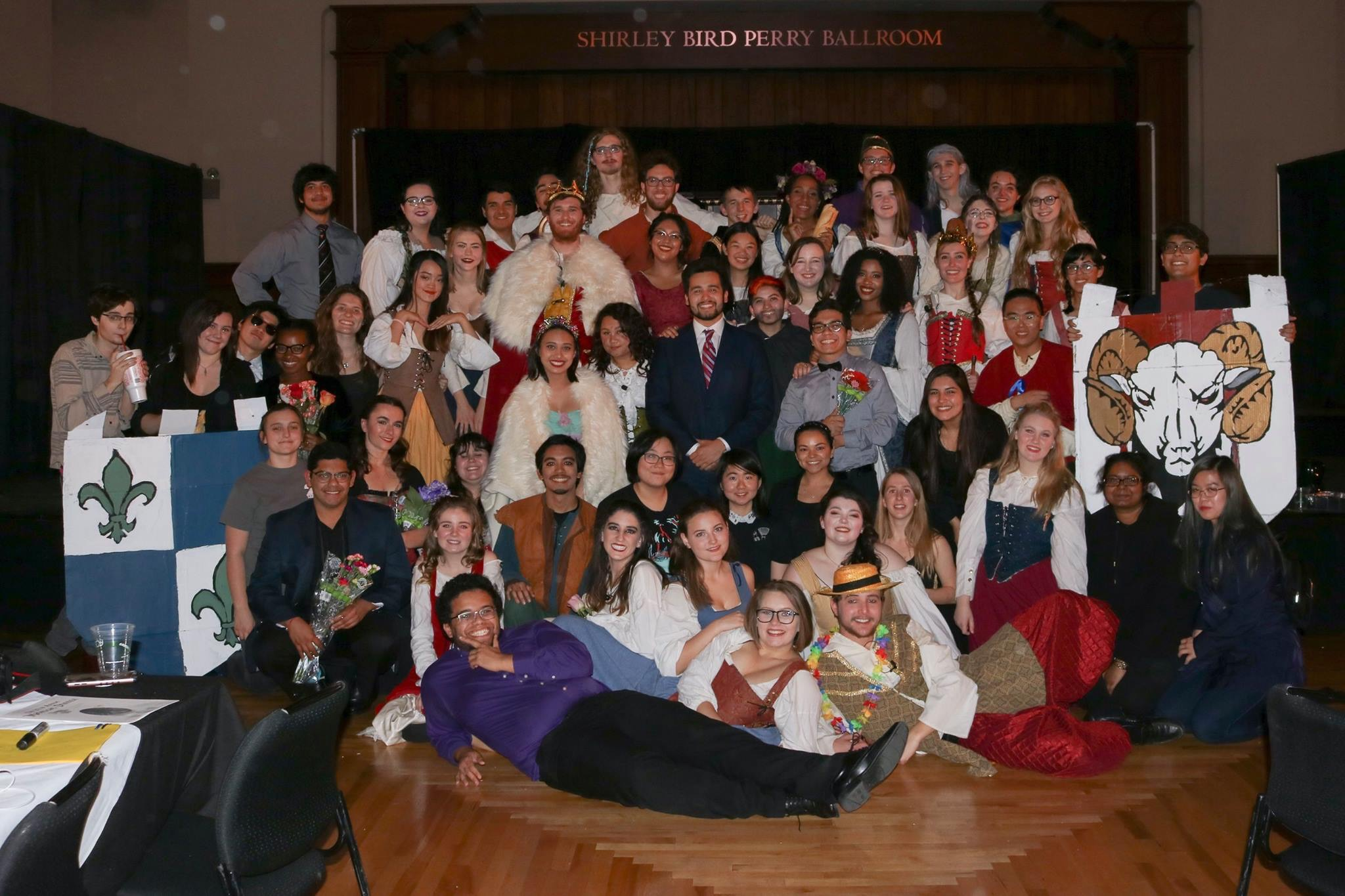 Photo of cast and crew, Madrigal 2017